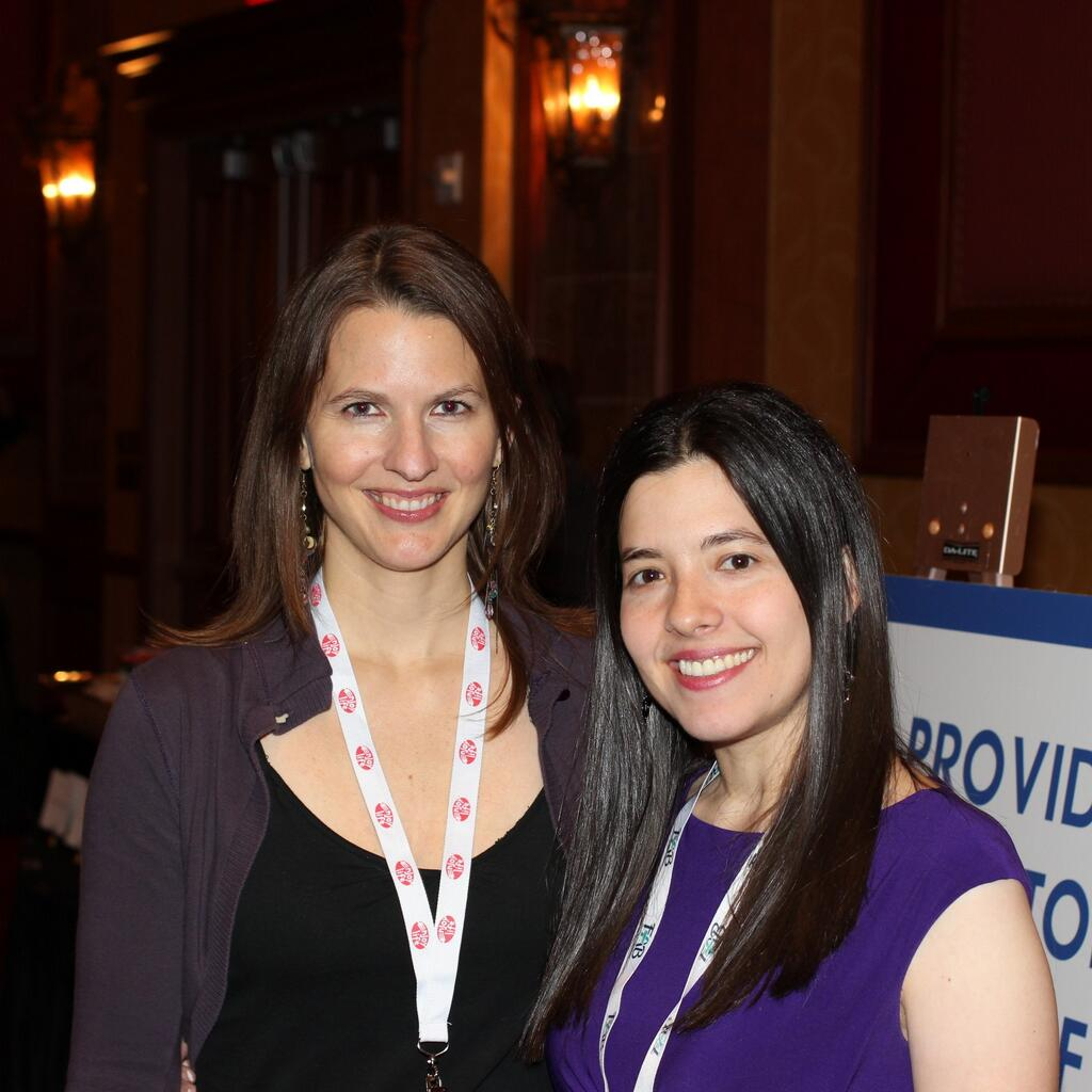 Jennifer Roberge and Selena Bluntzer at FABlogCon 2013