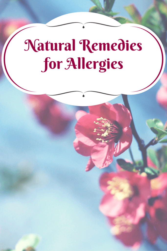 All the natural remedies for allergies