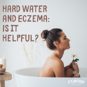 woman in bath hard water and eczema-min