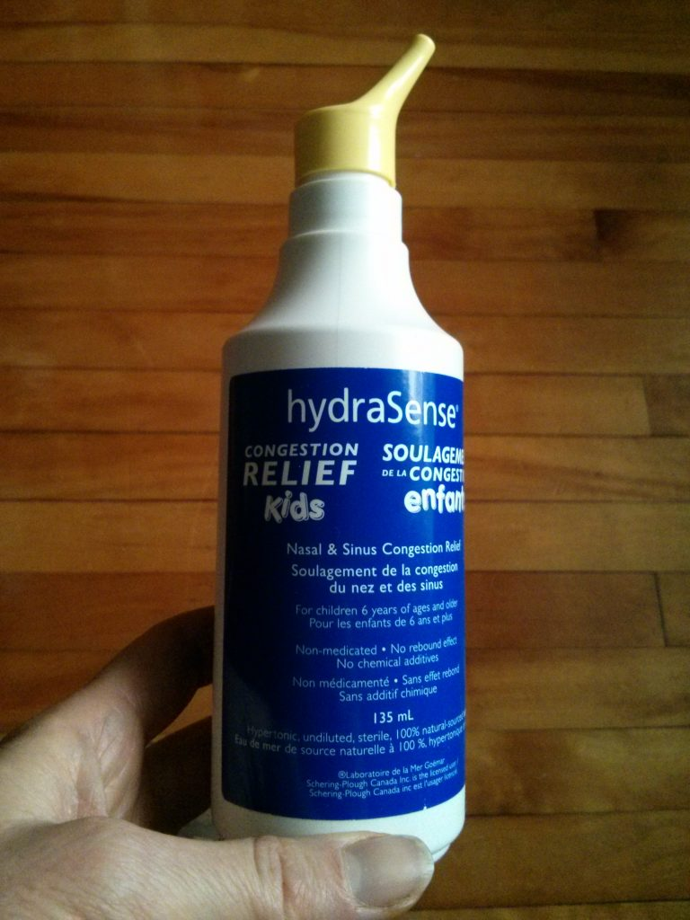 saline nasal spray for night time coughing