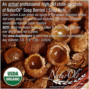 Soap nuts work great for eczema and sensitive skin as they leave on residue behind.
