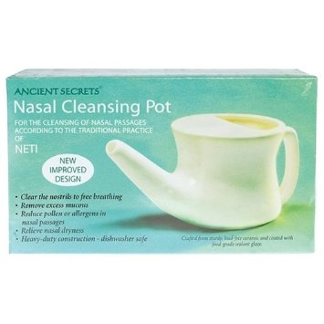 ancient secrets nasal cleansing pot for natural allergy relief