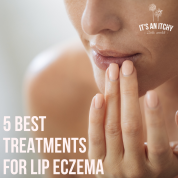 lip eczema - woman touching her lips